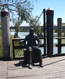 Captain John Egge Statue - Accommodation Gladstone