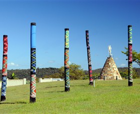 Maclean Tartan Power Poles - Accommodation Gladstone