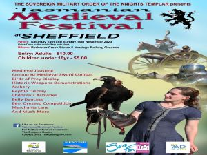 Sheffield Tasmania Medieval Festival 2020 - Accommodation Gladstone